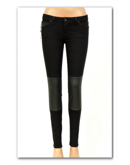 Lee TOXEY Coated Black Super Skinny