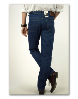 Lee BROOKLYN STRAIGHT Dark Stonewash Classic Regular