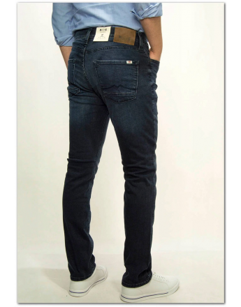Mustang Vegas Dark Blue Denim Blue Slim Medium