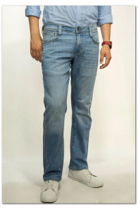 MUSTANG Oregon Straight Denim Blue Slim Low Straight